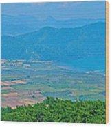 Turkish Farms Along The Aegean Sea Wood Print