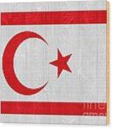 Turkish Republic Of Northern Cyprus Flag Wood Print