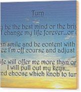 Turn Wood Print