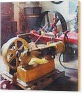 Turn Of The Century Machine Shop Wood Print