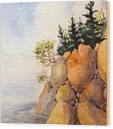 Turnagain Rocks Wood Print