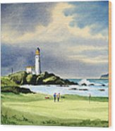 Turnberry Golf Course Scotland 10th Green Wood Print