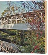 Turner's Covered Bridge Wood Print