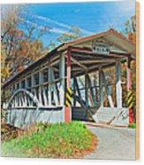 Turner's Covered Bridge Vignette Wood Print