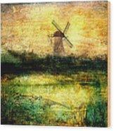 Turning Windmill Wood Print