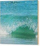 Turquois Waves  Wood Print
