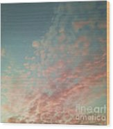 Turquoise And Peach Skies Wood Print by Holly Martin