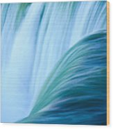 Turquoise Blue Waterfall Wood Print