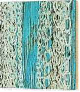 Turquoise Chained Wood Print