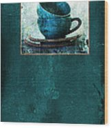 Turquoise Cups Wood Print