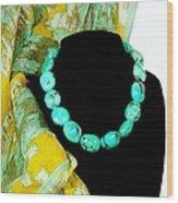 Turquoise Fashion Wood Print