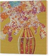 Turquoise Flower Wood Print