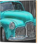 Turquoise Power  Wood Print