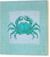 Turquoise Seashells I Wood Print