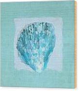 Turquoise Seashells Vii Wood Print
