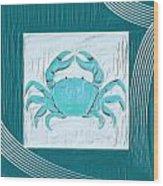 Turquoise Seashells Xix Wood Print