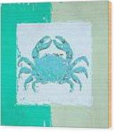 Turquoise Seashells Xv Wood Print