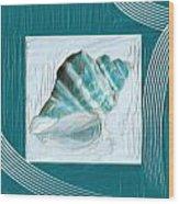 Turquoise Seashells Xxii Wood Print