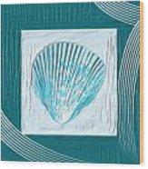 Turquoise Seashells Xxiii Wood Print