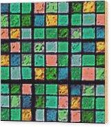 Turquoise Sudoku Wood Print