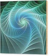 Turquoise Web Wood Print