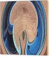 Turquoise Window Abstract 1  Wood Print