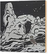 Turret Arch Under The Stars Wood Print by Estephy Sabin Figueroa