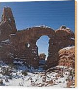 Turret Arch With Snow Arches National Park Utah Wood Print