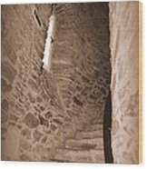 Turret Staircase Wood Print