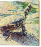 Turtle Brave Wood Print
