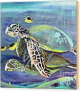 Turtle Duo Wood Print