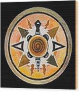 Turtle Mandala Wood Print