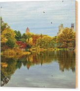 Turtle Pond 2 - Central Park - Nyc Wood Print