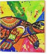 Turtle Pop Art Wood Print