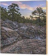 Turtle Rocks Atop Petit Jean Mountain - Arkansas Wood Print