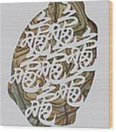 Turtle Shell's Inscription Wood Print by Ousama Lazkani