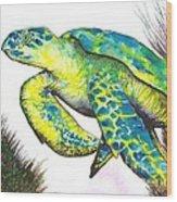 Turtle Wonder Wood Print