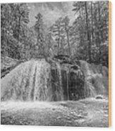 Turtletown Creek In Black And White Wood Print