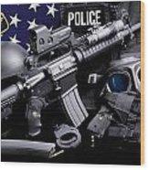 Tuscaloosa Police Wood Print by Gary Yost
