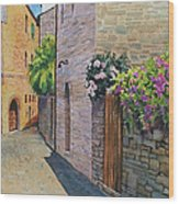 Tuscan Alley Wood Print