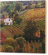 Tuscan Autumn Wood Print
