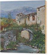 Tuscan Bridge Wood Print