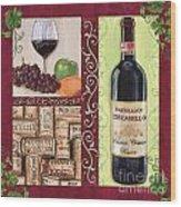 Tuscan Collage 2 Wood Print by Debbie DeWitt