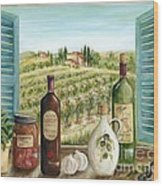 Tuscan Delights Wood Print by Marilyn Dunlap