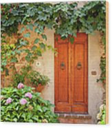 Tuscan Door Wood Print