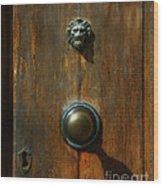 Tuscan Doorknob Wood Print