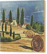 Tuscan Dream 2 Wood Print by Debbie DeWitt