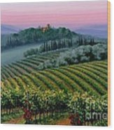 Tuscan Dusk Wood Print by Michael Swanson