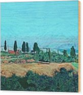 Tuscan Farm Wood Print