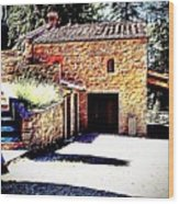 Tuscan Farmhouse Wood Print
